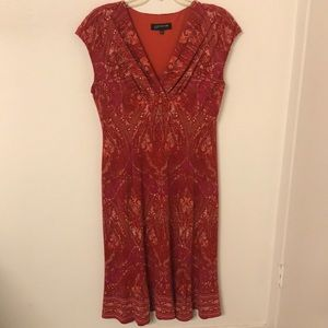 Jones New York Jersey Printed Midi Dress
